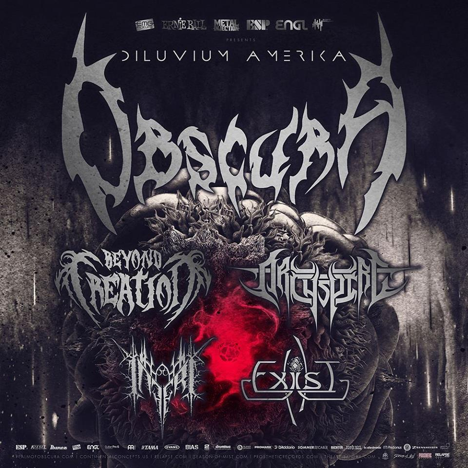 Obscura Announce North American Tour with Beyond Creation, Archspire, Inferi, and Exist!