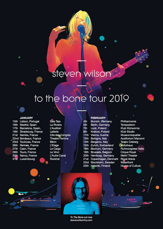 """Steven Wilson Returns to Europe with """"To The Bone"""" in Early 2019"""