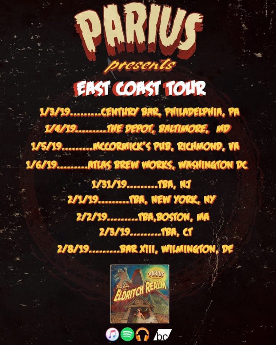 """Parius To Bring """"The Eldritch Realm"""" To America's East Coast!"""