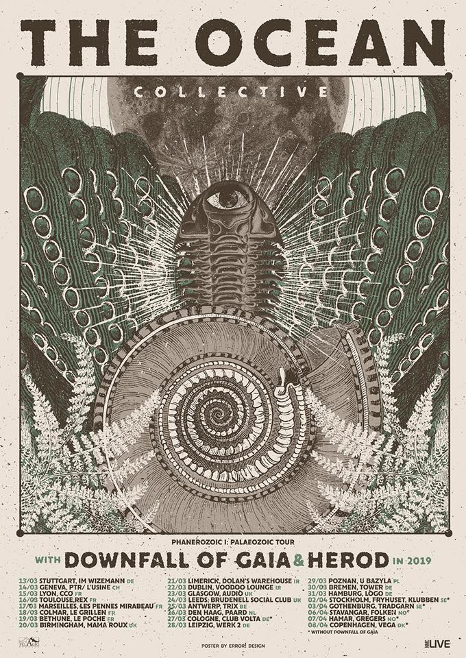 The Ocean to Take Downfall Of Gaia And Herod on European Tour