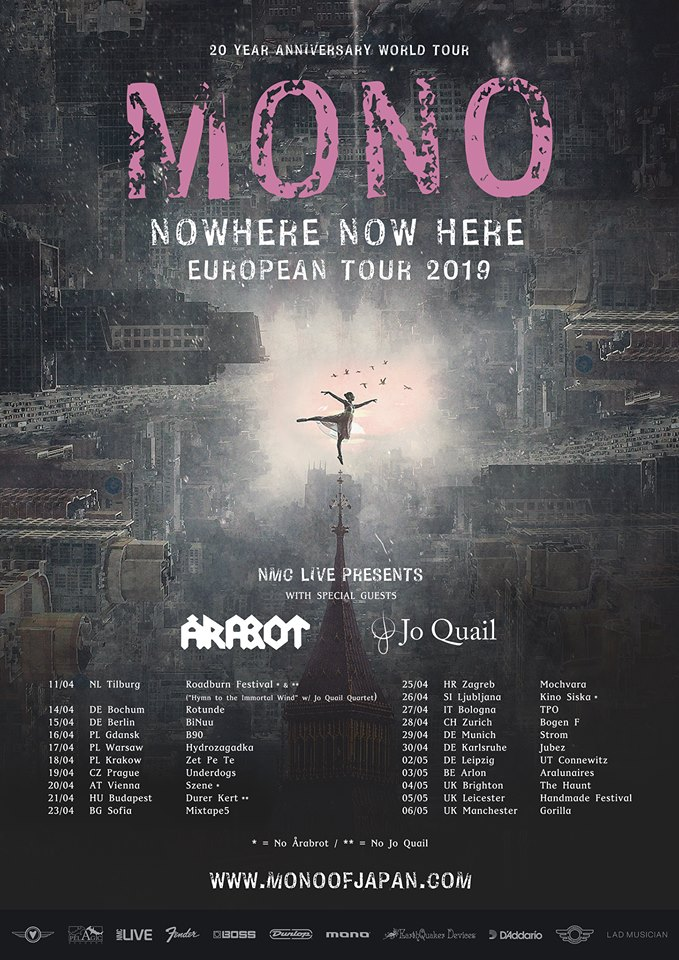 Mono Announce European Run With Årabrot and Jo Quail