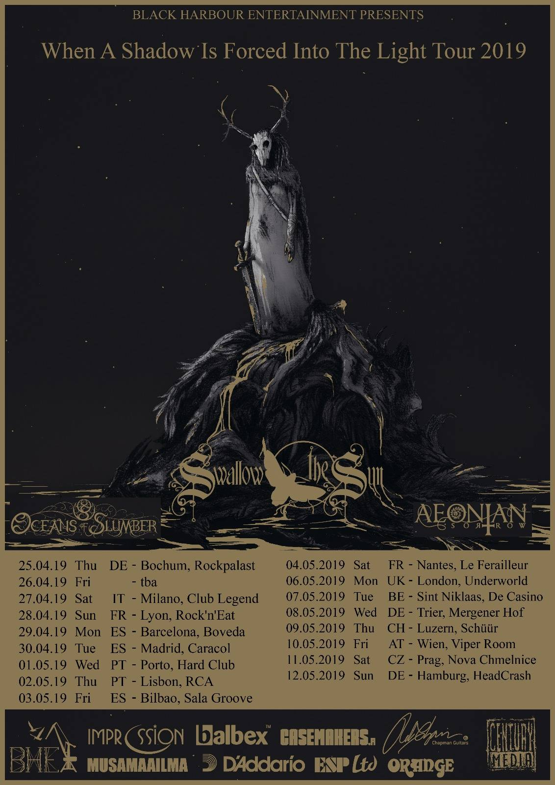 """Swallow the Sun Announce """"When a Shadow Is Forced Into the Light"""" European Tour"""