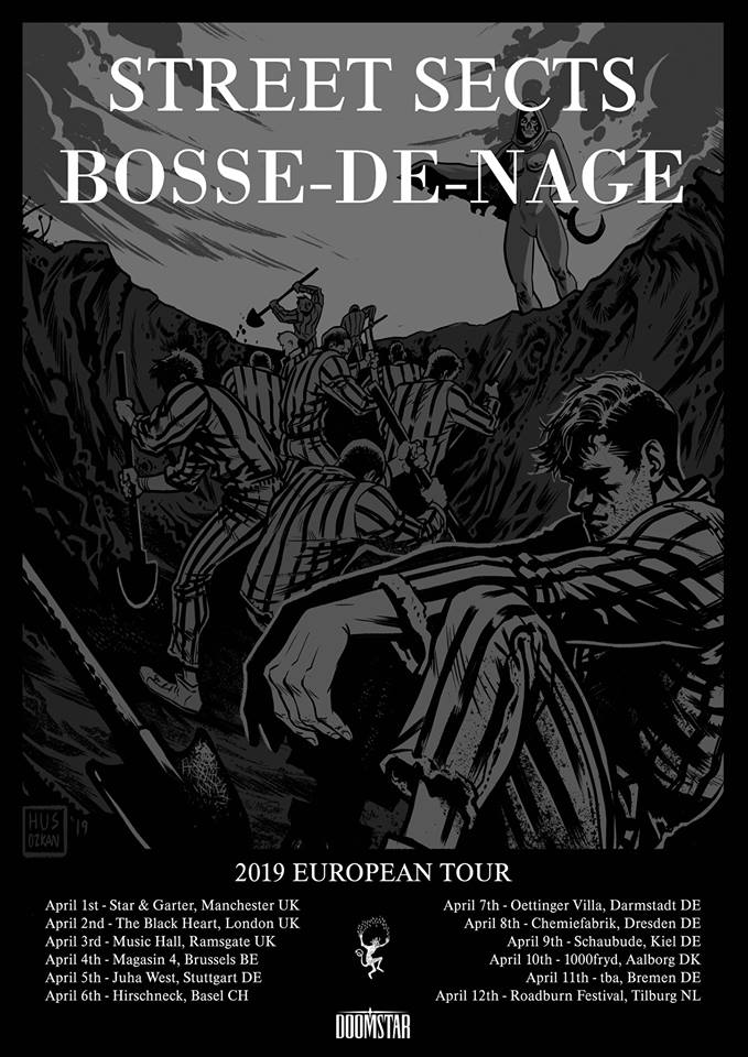 "Street Sects to Drag ""The Kicking Mule"" and Bosse-de-Nage Through Europe in April"