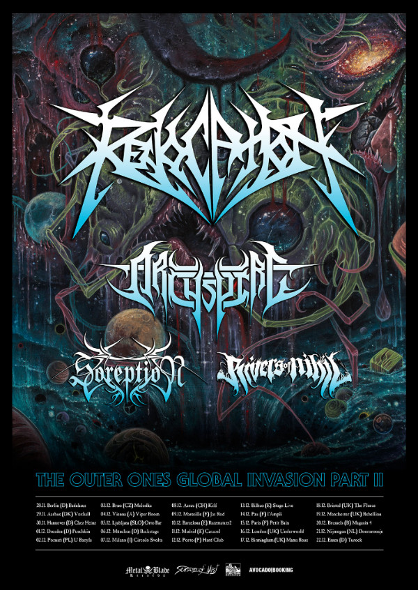 Archspire Coming To Europe With Revocation, Soreption And Rivers Of Nihil
