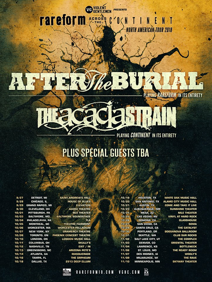 After The Burial and The Acacia Strain To Tour in Fall 2018