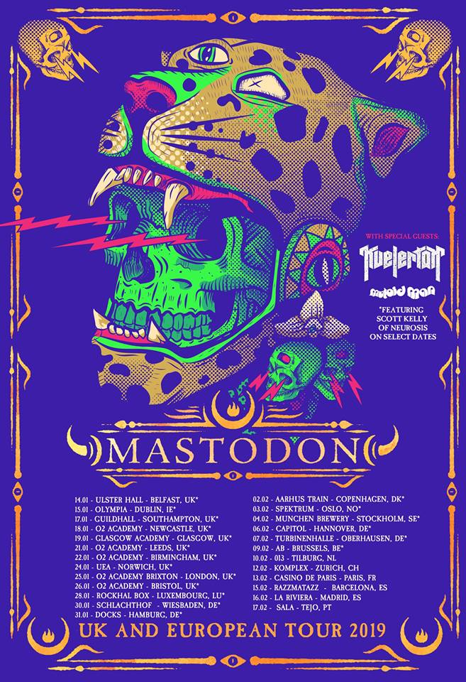 Mastodon Take Kvelertak And Mutoid Man Out on European Tour