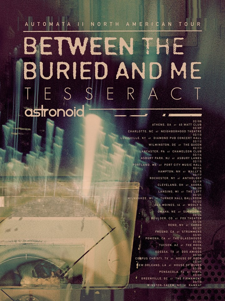 Between The Buried And Me Announce North American Tour with Tesseract and Astronoid