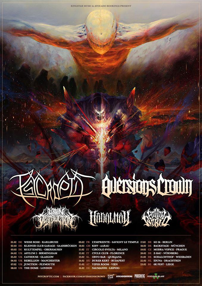 Psycroptic Announce 2019 European Tour