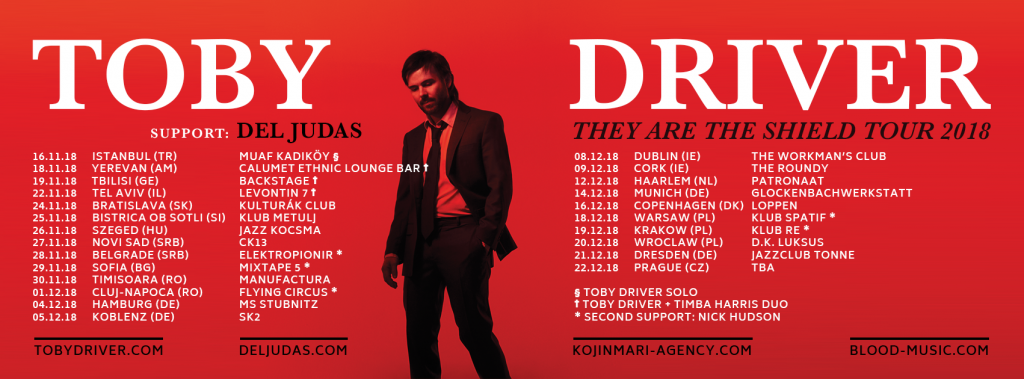 Toby Driver tour dates (see below)