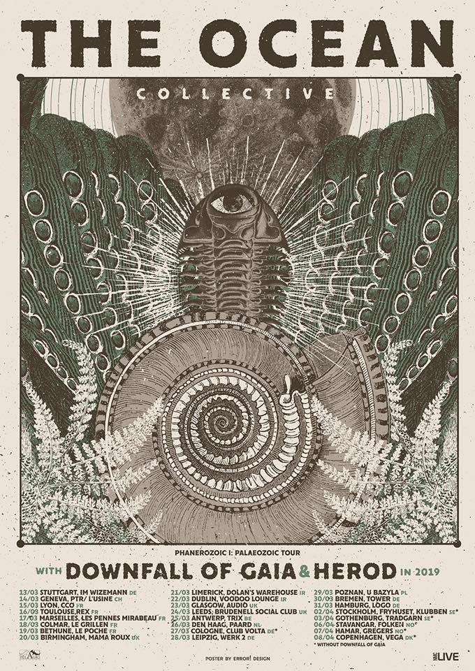 The Ocean to Take Downfall Of Gaia And Herod on European Tour