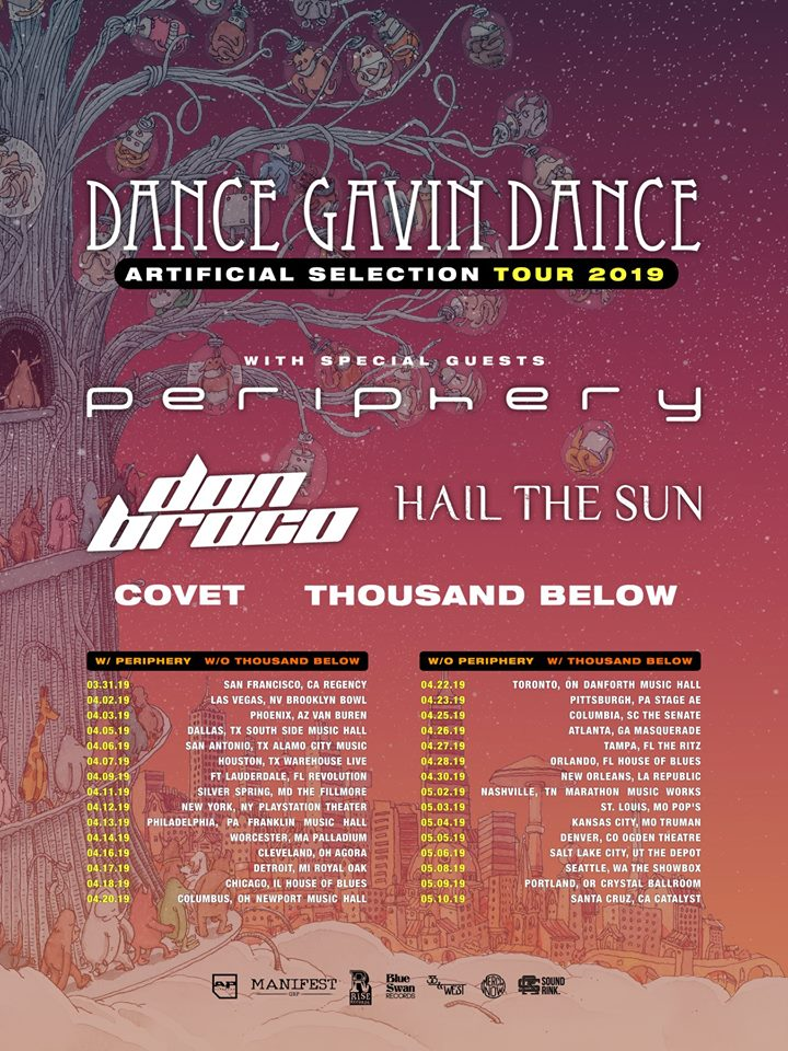 Dance Gavin Dance Announce Huge North American Tour